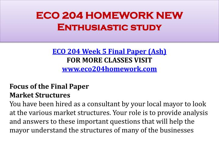 eco study question