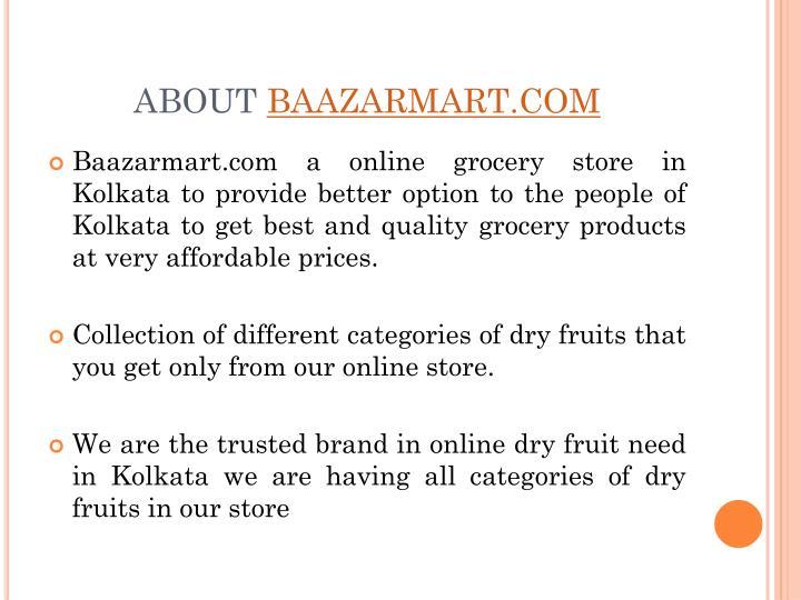 About baazarmart com