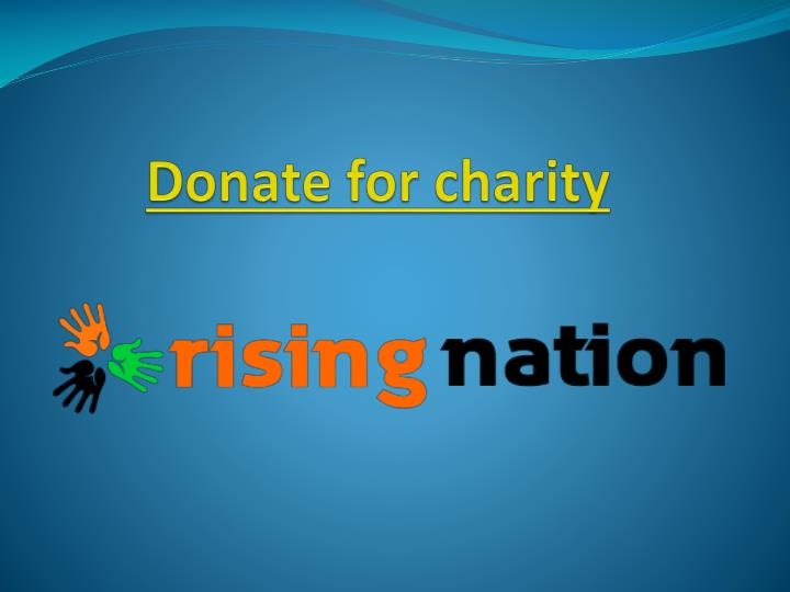 Donate for charity