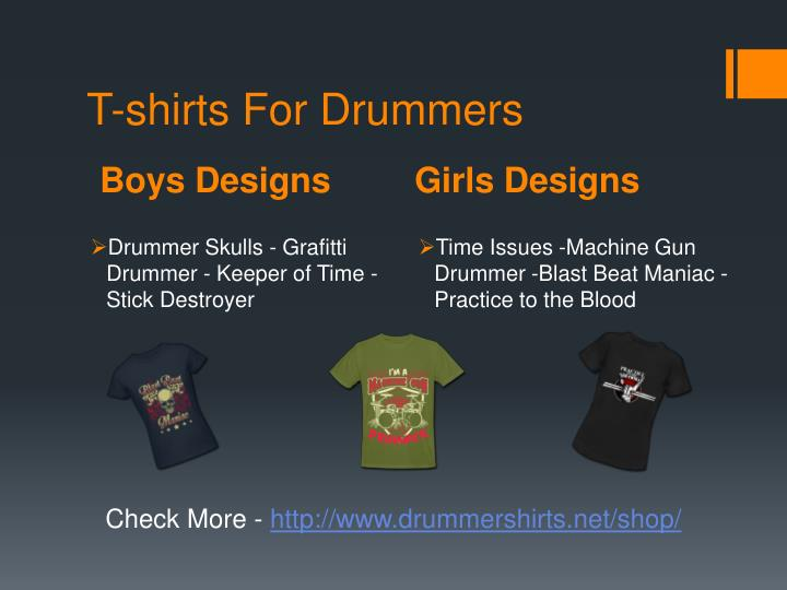 T-shirts For Drummers