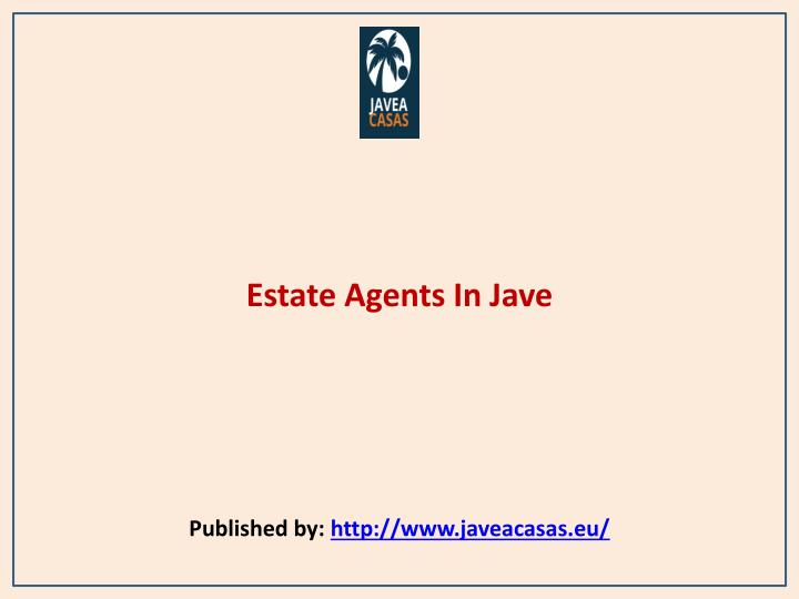 estate agents in jave published by http www javeacasas eu n.