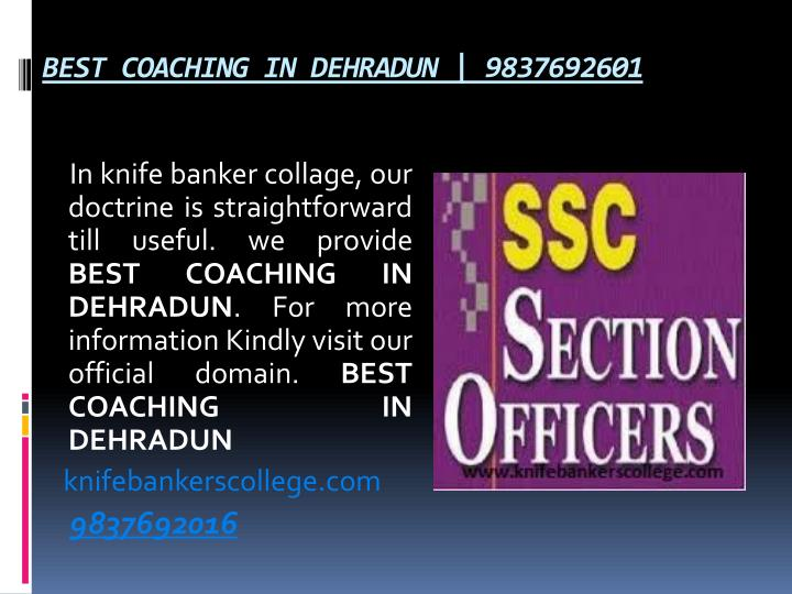 BEST COACHING IN DEHRADUN