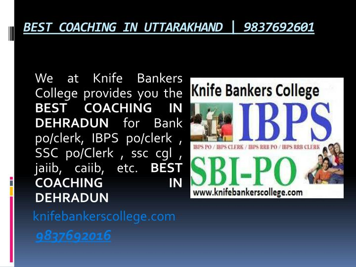 BEST COACHING IN UTTARAKHAND