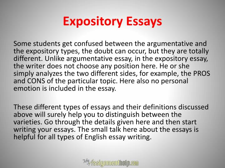 types of essays and their definitions