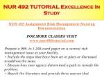 nur 492 tutorial excellence in study2