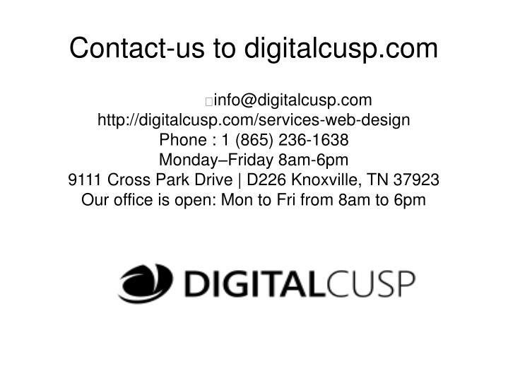 Contact-us to digitalcusp.com