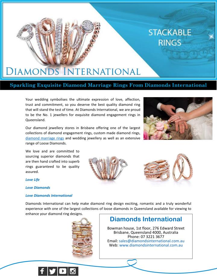 Sparkling Exquisite Diamond Marriage Rings From Diamonds International