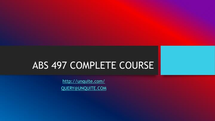 abs 497 complete course n.