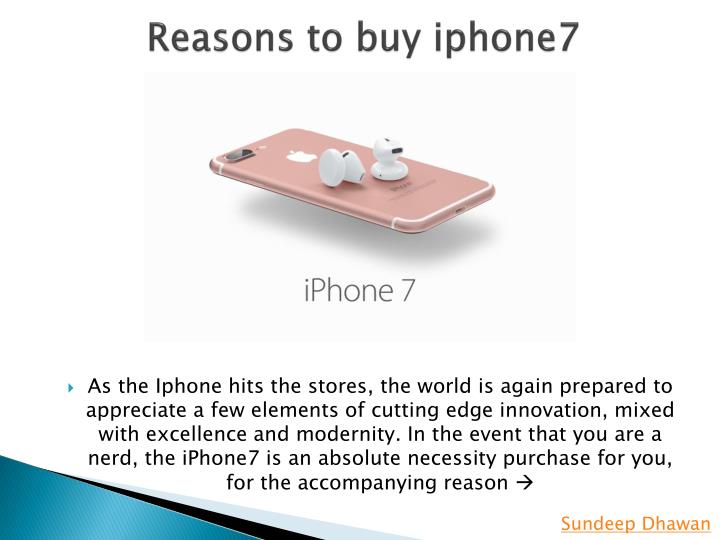 Reasons to buy iphone7
