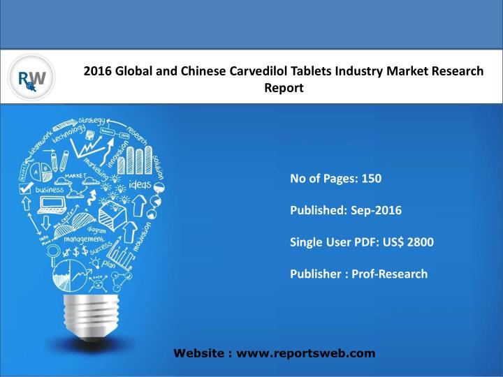 2016 Global and Chinese Carvedilol Tablets Industry Market Research