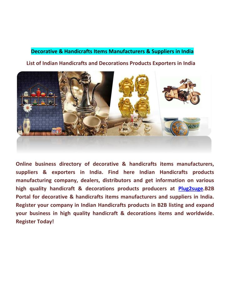 PPT - Decorative & Handicrafts Items Manufacturers & Suppliers in