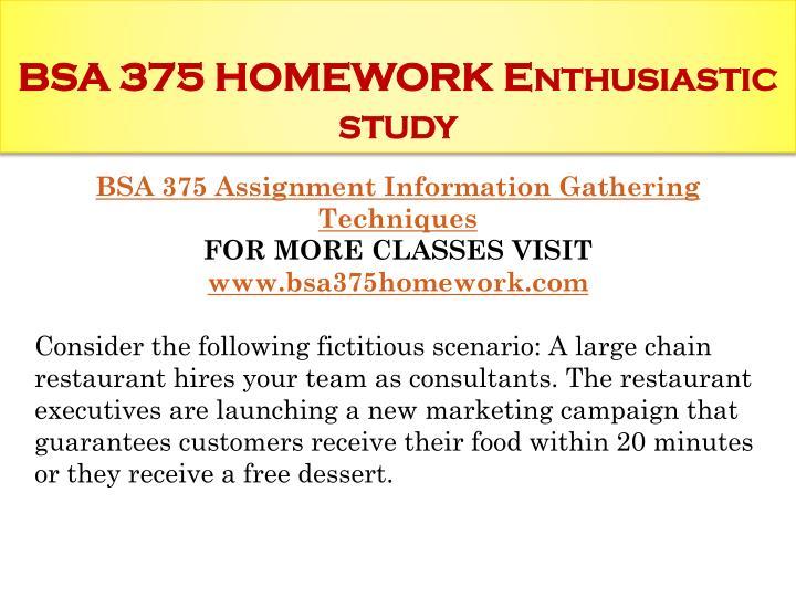 bsa375 from uop tutorials dot info For more course tutorials visit www bsa 375 week 1 assignment agile principle for more course (uop) bsa 375 week 5 learning team assignment.