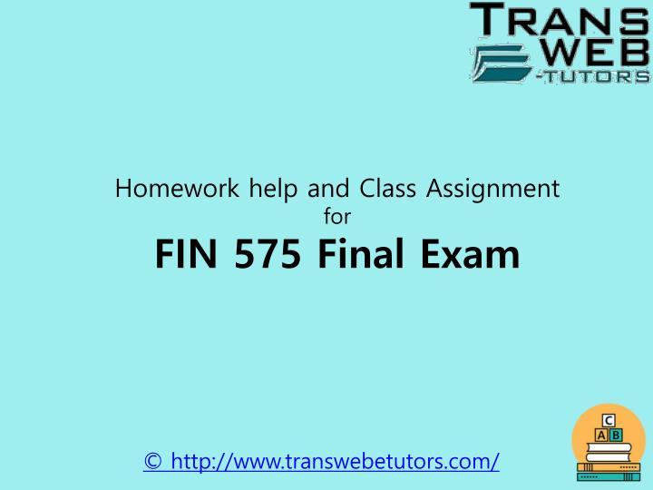 Homework help and Class Assignment