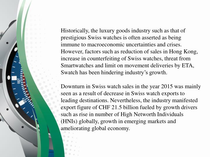 world luxury goods industry essay How will 2016 shape up for the global luxury goods industry ageing populations are a common thread among the world's biggest luxury goods markets.