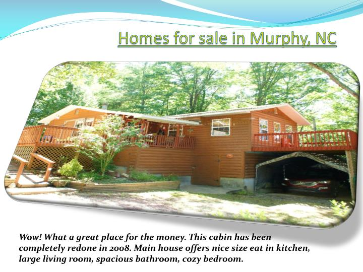 Homes for sale in murphy nc
