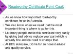 roadworthy certificate point cook