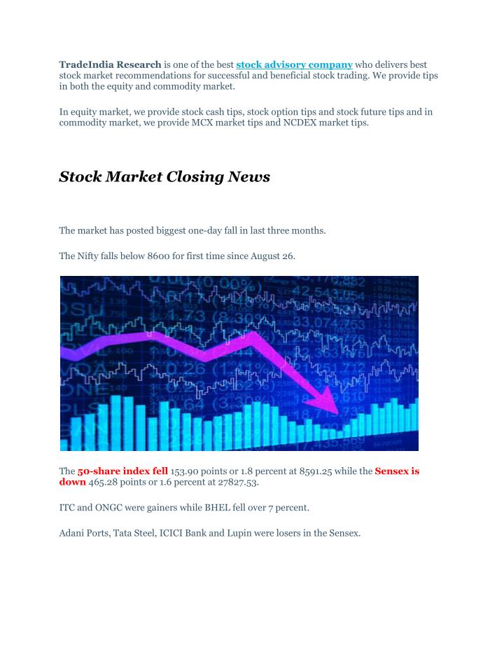 PPT - Full Target Achieved Trading Calls With Stock Market Closing