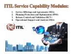 itil service capability modules
