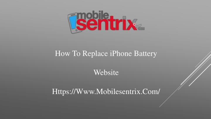 how to replace iphone battery website https www mobilesentrix com