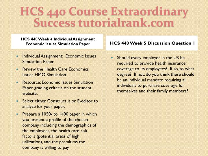 HCS 440 Course Extraordinary  Success tutorialrank.com