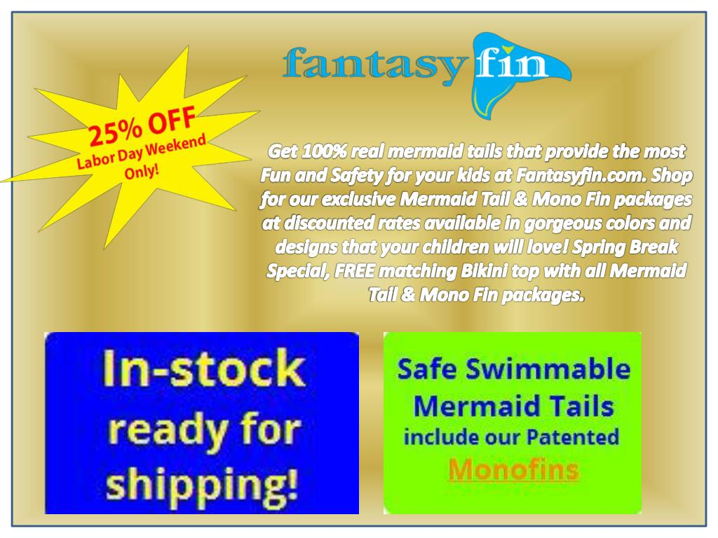 PPT - Huge discounts on Swimmable mermaid tails Canada