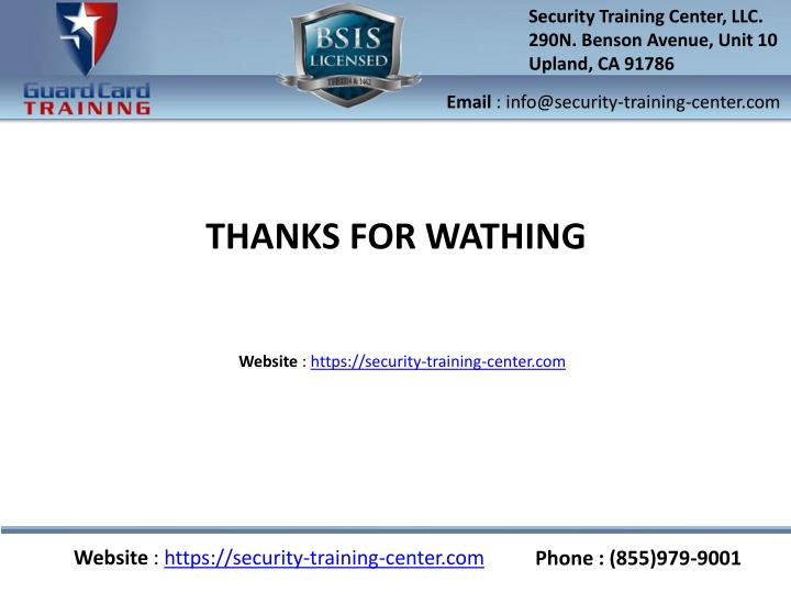 Security Training Center, LLC.