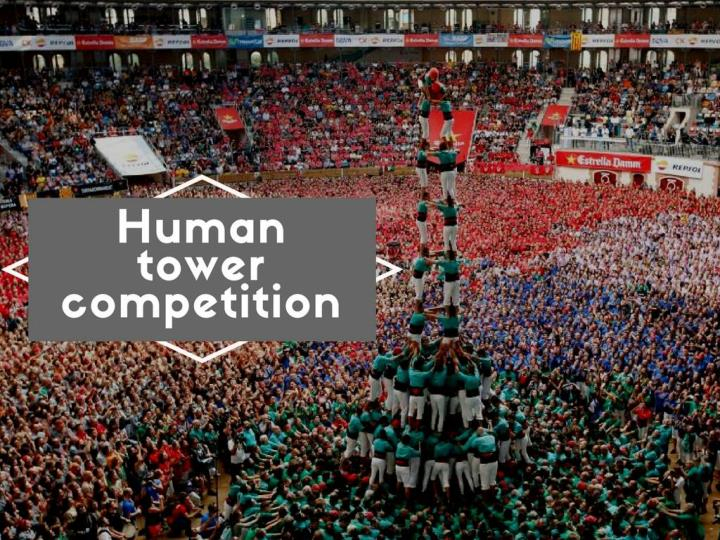 human tower competition n.