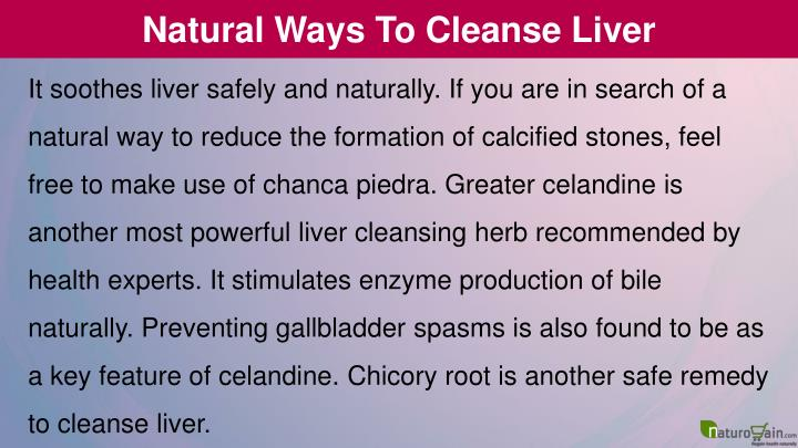 Natural Ways To Cleanse Liver
