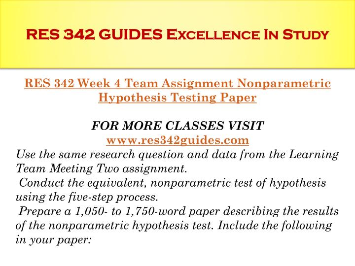 hypothesis testing paper and presentation