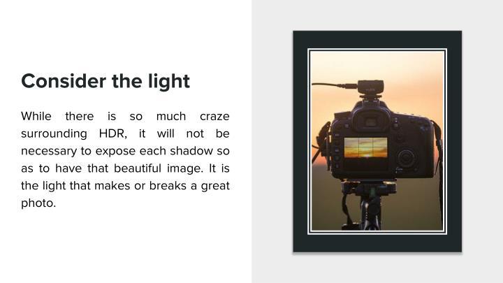 Consider the light