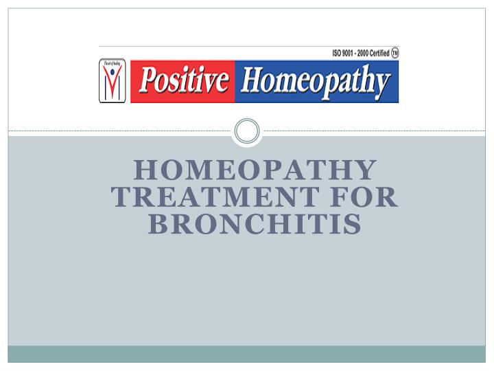 homeopathy treatment for bronchitis n.