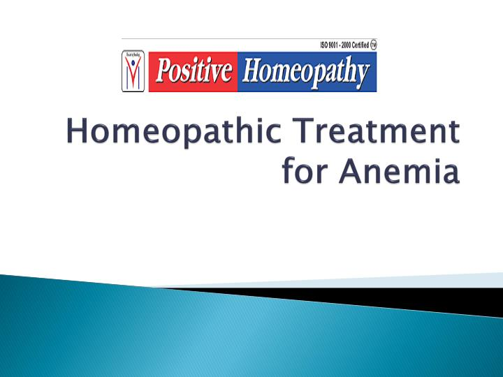 homeopathic treatment for anemia n.