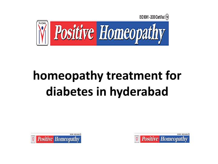 homeopathy treatment for diabetes in hyderabad n.