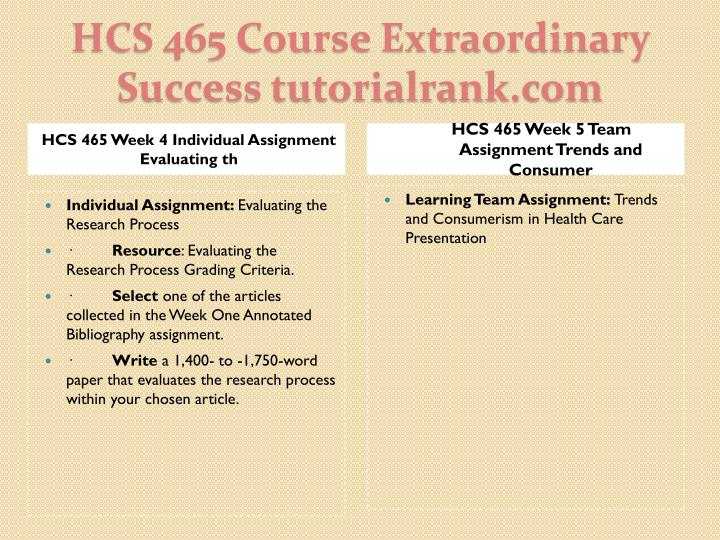 evaluating the research process grading criteria hcs 465 Hcs/465 hcs465 hcs 465 week 4 individual assignment evaluating the research process individual assignment:  evaluating the research process grading criteria.