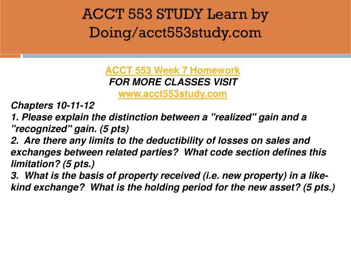 you decide acct 553
