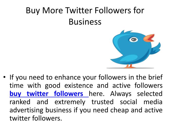 Buy More Twitter Followers for Business