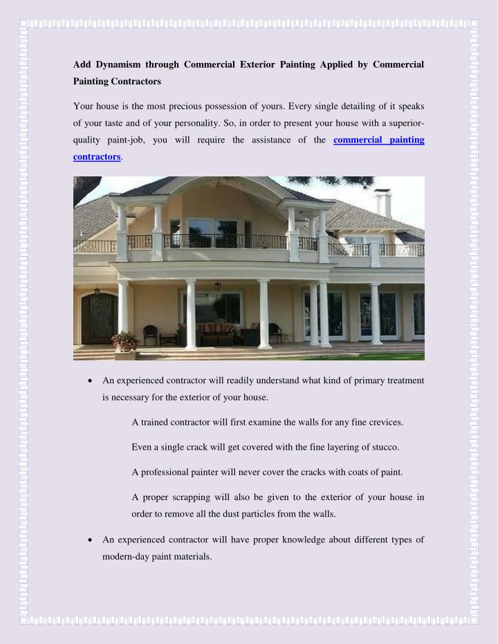 PPT - Add Dynamism through Commercial Exterior Painting