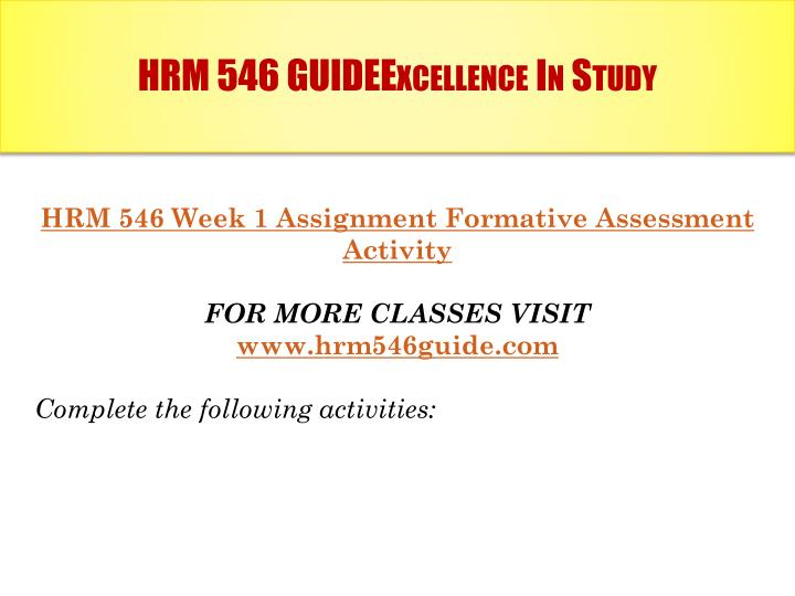 Hrm 546 guideexcellence in study1