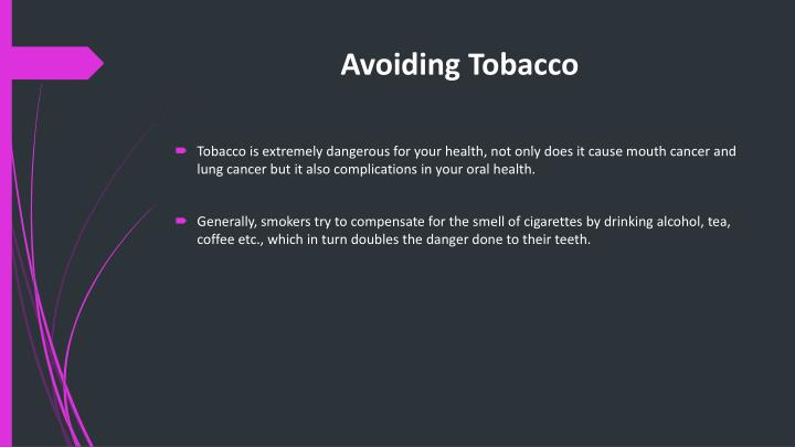Avoiding Tobacco