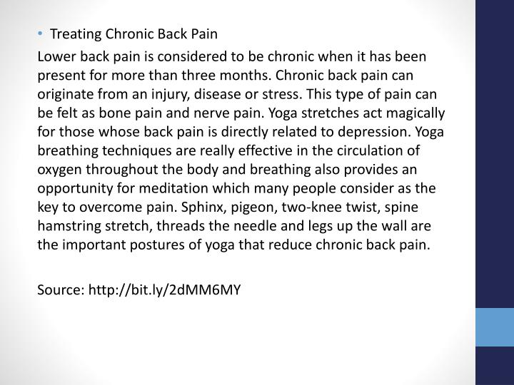 Treating Chronic Back Pain