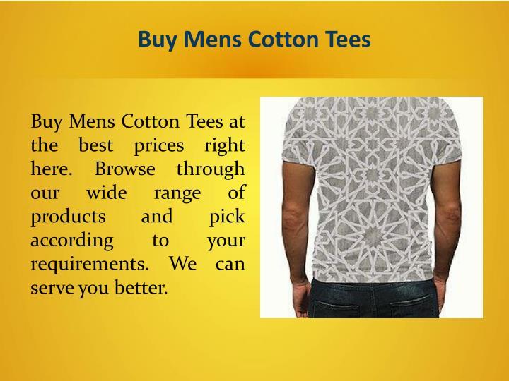 Buy Mens Cotton Tees