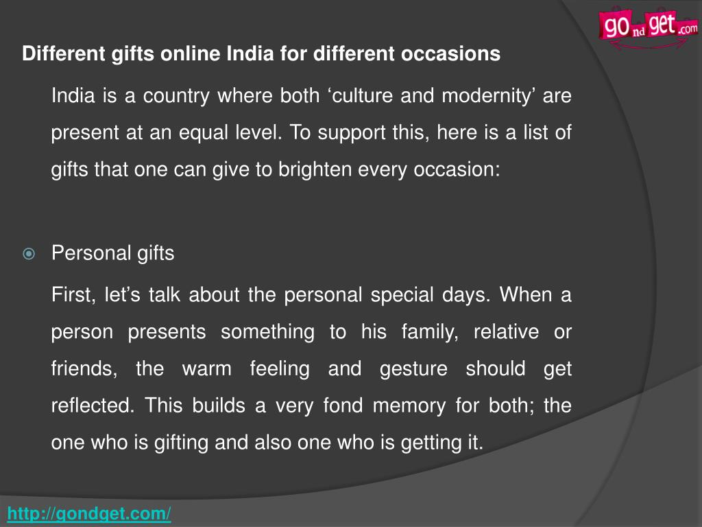 PPT - Get Best Gifts Online For Every Occasion To Spread