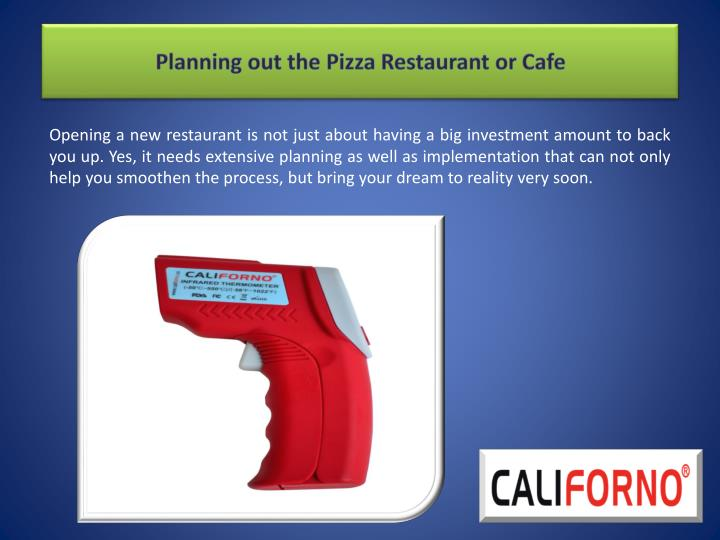 planning out the pizza restaurant or cafe n.