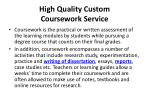 high quality custom coursework service