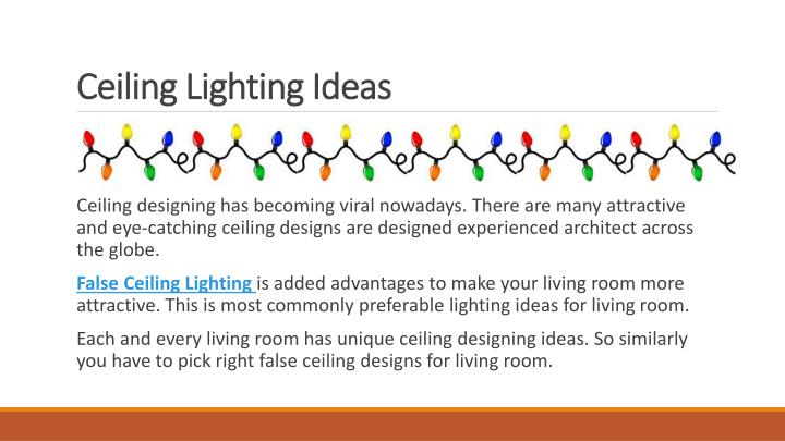 Ceiling lighting ideas