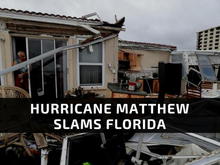 typhoon matthew pummels florida n.