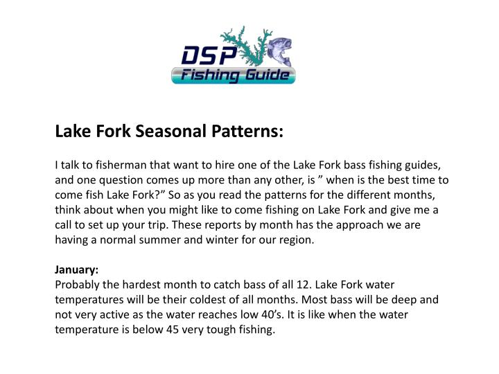 Lake Fork Seasonal