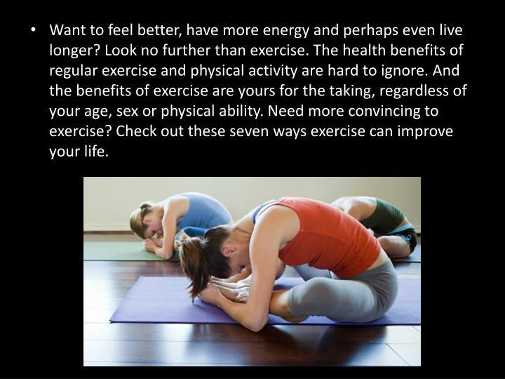 three benefits to exercise
