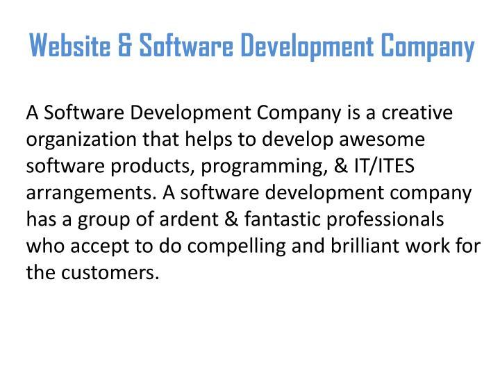 Website software development company
