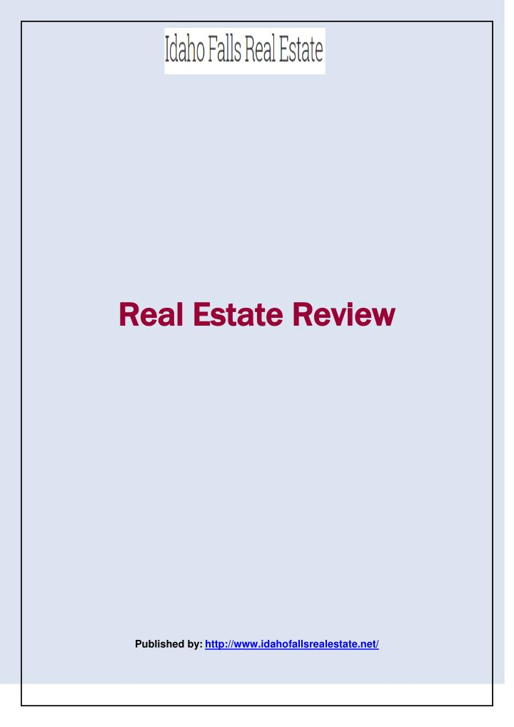Real Estate Review